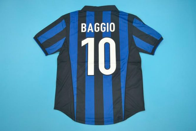 Baggio Nameset, Inter Milan 1998-1999 Home Short-Sleeve