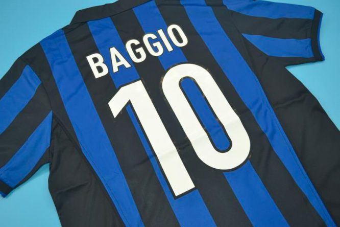 Baggio Nameset Alternate, Inter Milan 1998-1999 Home Short-Sleeve