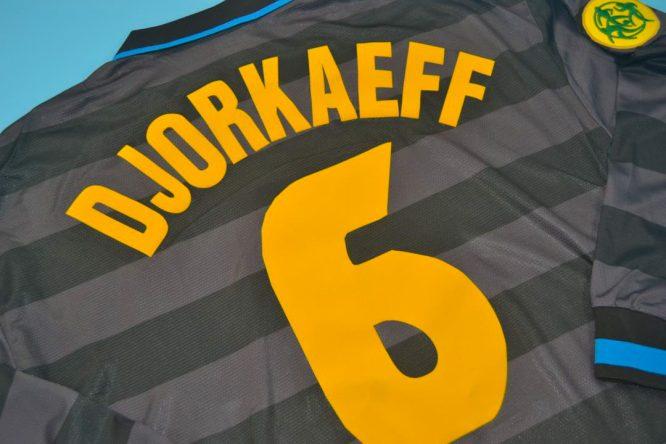 Djorkaeff Nameset Alternate, Inter Milan 1997-1998 Third Long-Sleeve