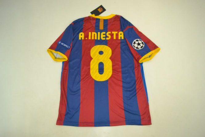 Iniesta Nameset, Barcelona 2010-2011 Champions League Final