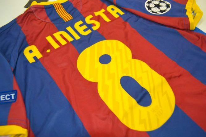 Iniesta Nameset Alternate, Barcelona 2010-2011 Champions League Final