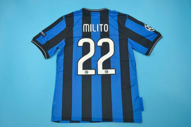 Milito Nameset, Inter Milan 2010 Champions League Final Short-Sleeve