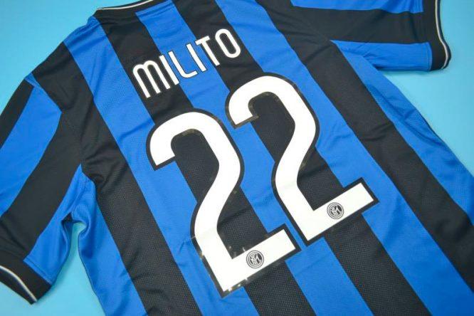 Milito Nameset Alternate, Inter Milan 2010 Champions League Final Short-Sleeve
