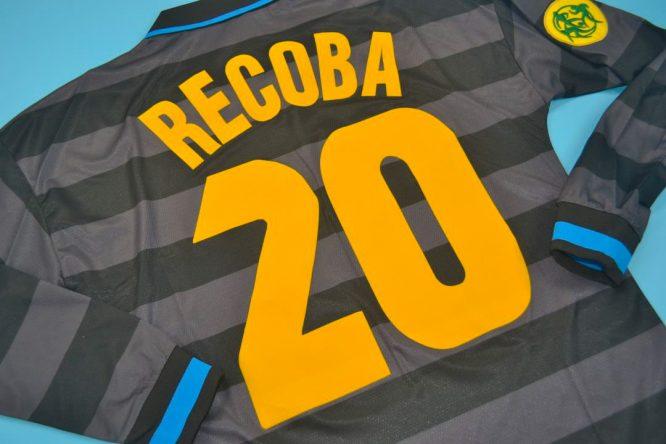 Recoba Nameset Alternate, Inter Milan 1997-1998 Third Long-Sleeve