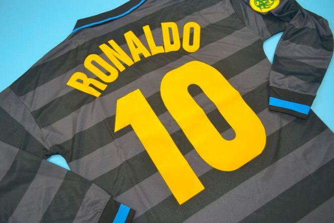 Ronaldo Nameset Alternate, Inter Milan 1997-1998 Third Long-Sleeve