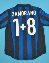 Zamorano 8+1 Nameset, Inter Milan 1998-1999 Home Short-Sleeve