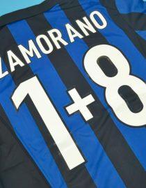 Zamorano 8+1 Nameset Alternate, Inter Milan 1998-1999 Home Short-Sleeve