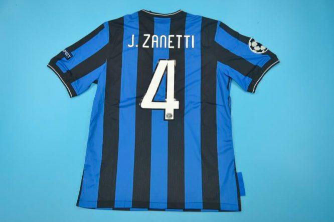 Zanetti Nameset, Inter Milan 2010 Champions League Final Short-Sleeve