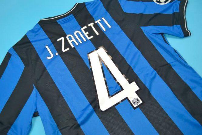 Zanetti Nameset Alternate, Inter Milan 2010 Champions League Final Short-Sleeve