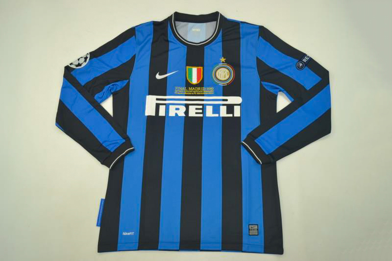 the best attitude ef311 efc19 Inter Milan 2009-2010 Champions League Final Long-Sleeve