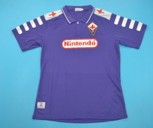 Shirt Front, Fiorentina 1998-1999 Short-Sleeve
