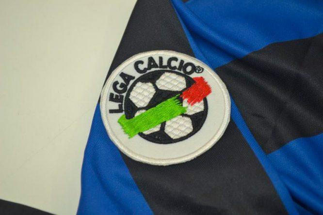 Shirt Lega Calcio Patch, Inter Milan 1998-1999 Home Long-Sleeve