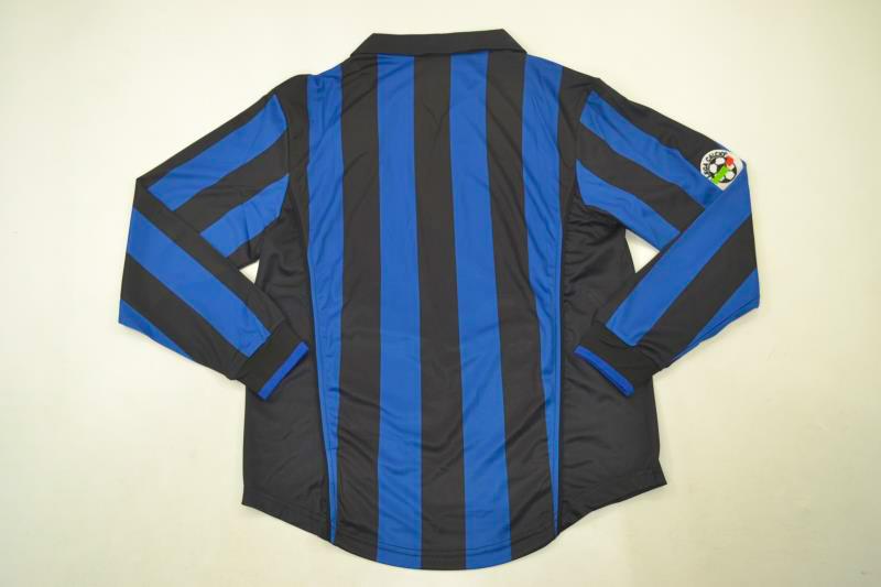 Inter Milan 1998-99 Long-Sleeve Retro Jersey [Free Shipping]