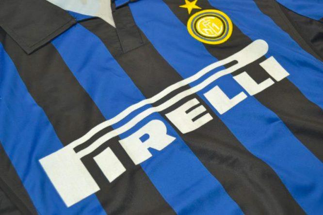 Shirt Front Alternate, Inter Milan 1998-1999 Home Long-Sleeve