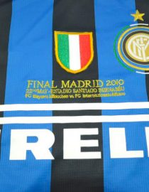 Shirt Front Closeup, Inter Milan 2009-2010 Champions League Final Long-Sleeve