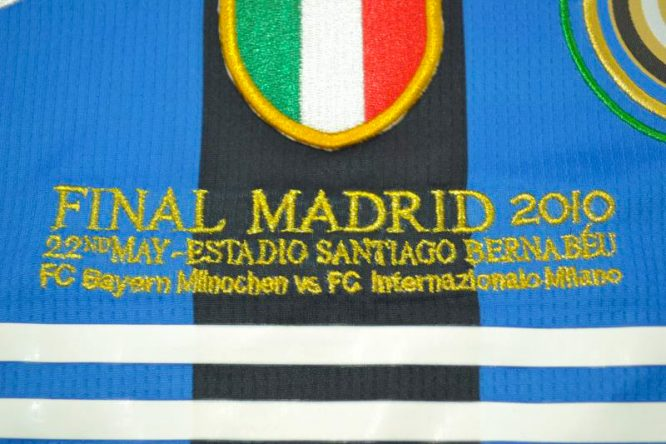 Shirt Final Imprint, Inter Milan 2009-2010 Champions League Final Long-Sleeve