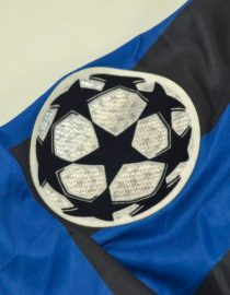 Shirt Champions League Patch, Inter Milan 1998-1999 Home Long-Sleeve