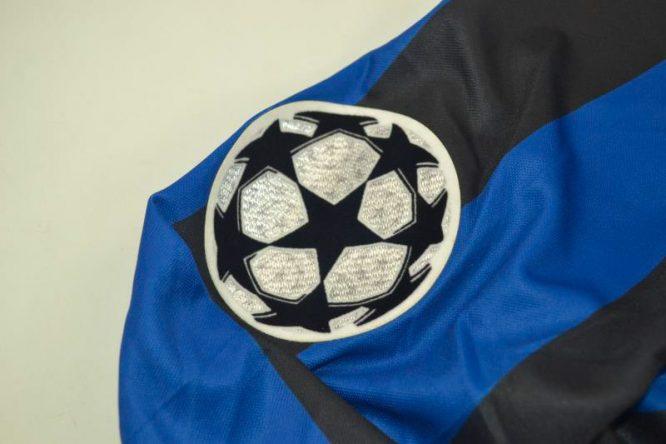 Shirt Champions League Patch, Inter Milan 1998-1999 Home Long-Sleeve