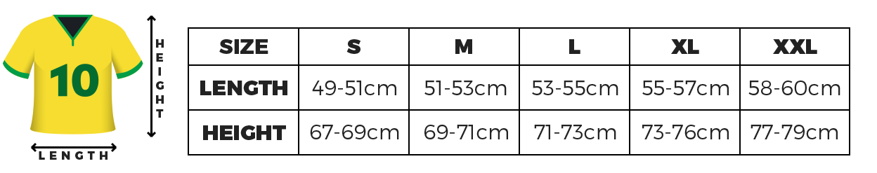 Sizing Normal S to XXL