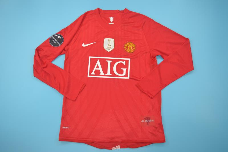 c0737c493 Manchester United 2008-09 Long-Sleeve Jersey  Free Shipping