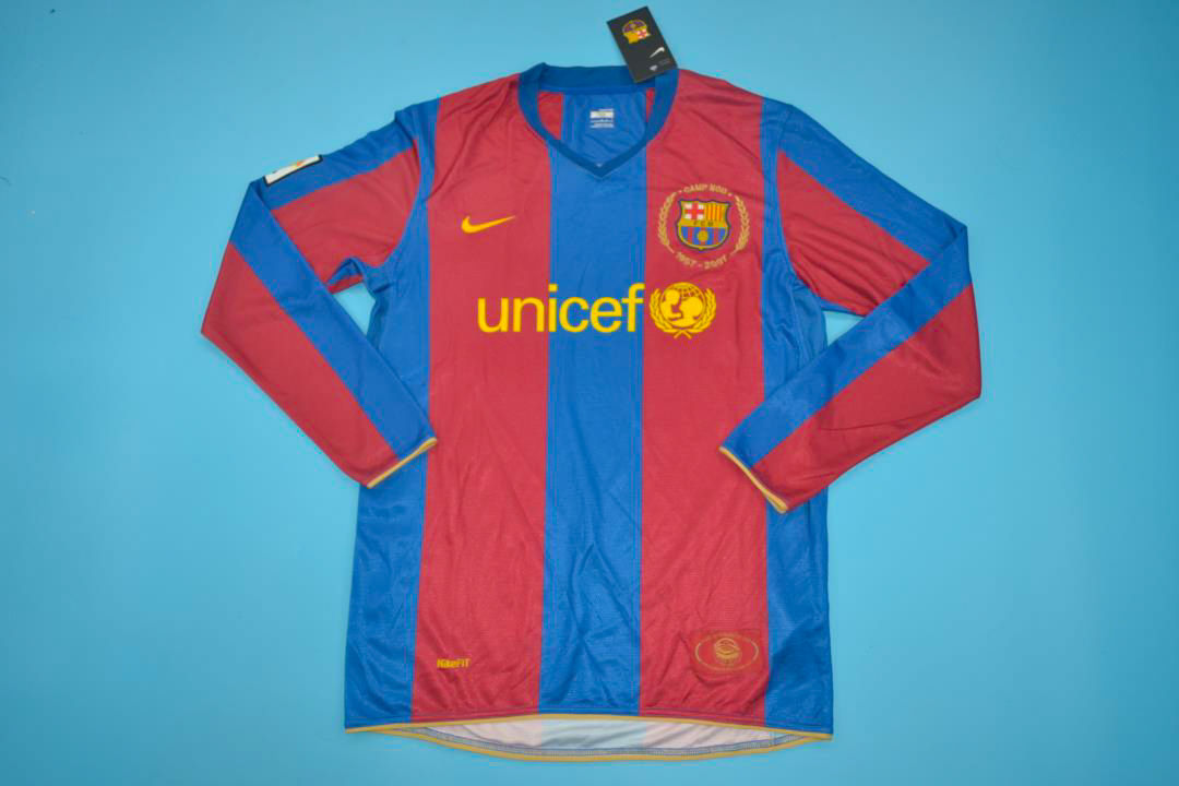 wholesale dealer 583be b1860 FC Barcelona 2007-2008 Long-Sleeve