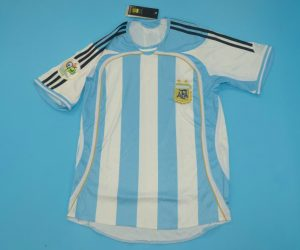 Shirt Front, Argentina 2006 World Cup Home Short-Sleeve