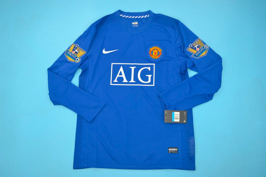55277cb11 Man. United 2008-09 Third Long-Sleeve Shirt  Free Shipping