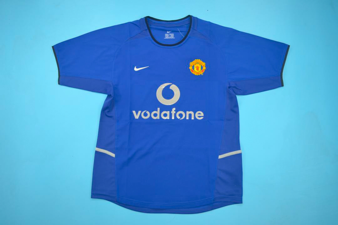 Manchester United 2002-2003 Third Short Sleeve Retro Jersey - Fully ... d896e3a10