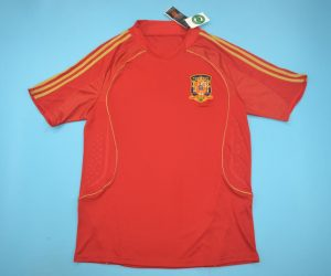 Jersey Front, Spain Euro 2008 Home Short-Sleeve