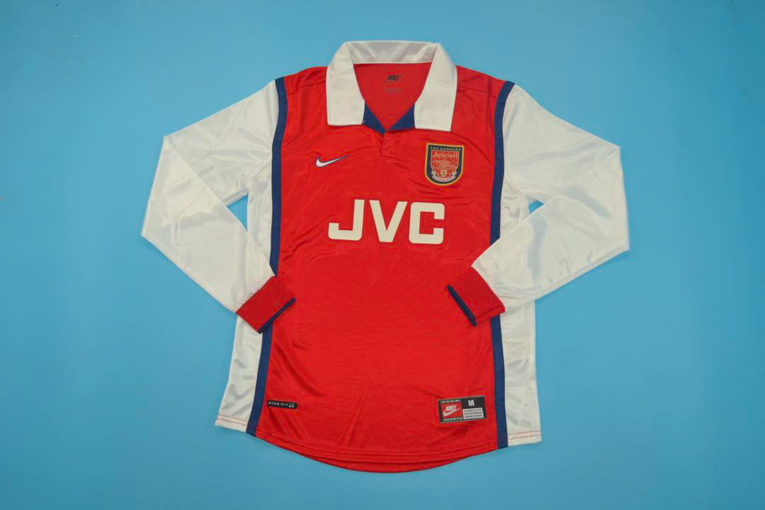 premium selection 52ab5 5bcc6 Arsenal 1998-1999 Long-Sleeve