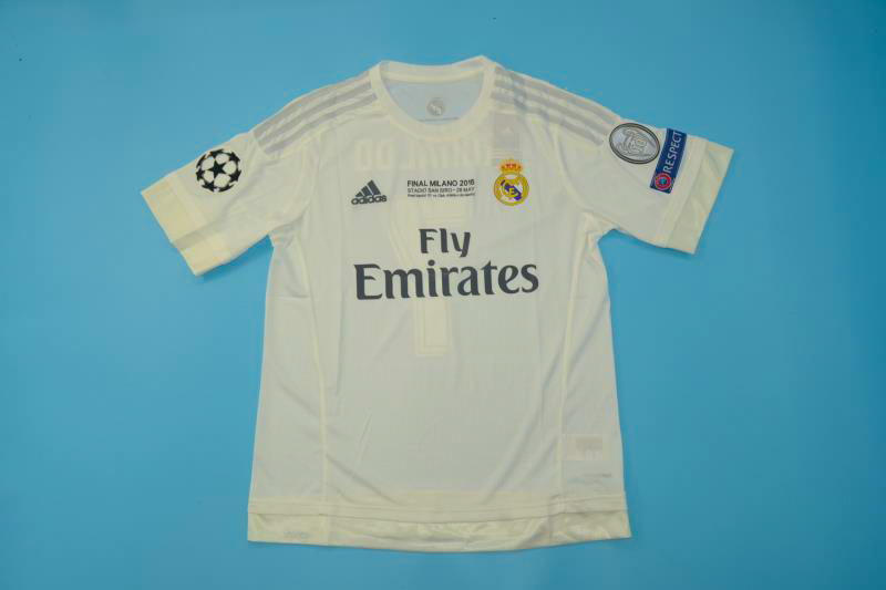 c65d60b90 Real Madrid 2016 CL Final Retro Jersey  Free Shipping