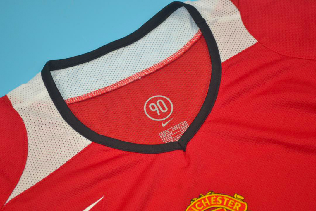 Manchester United 2005-2006 Short-Sleeve Retro Jersey - Fully ... 6ab699287
