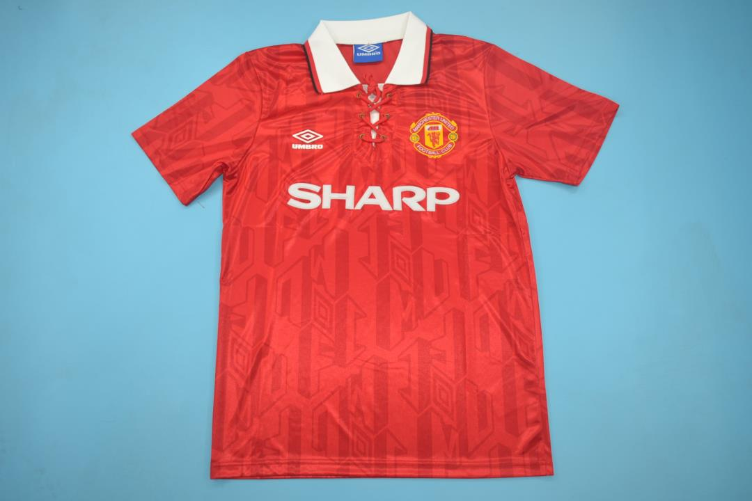 new product 5c2ae 327b4 Manchester United 1993-1994 Home Short Sleeve
