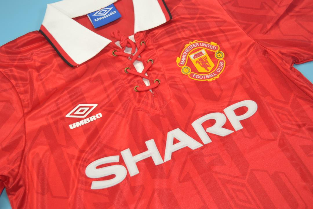 Manchester United 1993-1994 Home Short Sleeve Retro Jersey - Fully ... 0ad943ad6