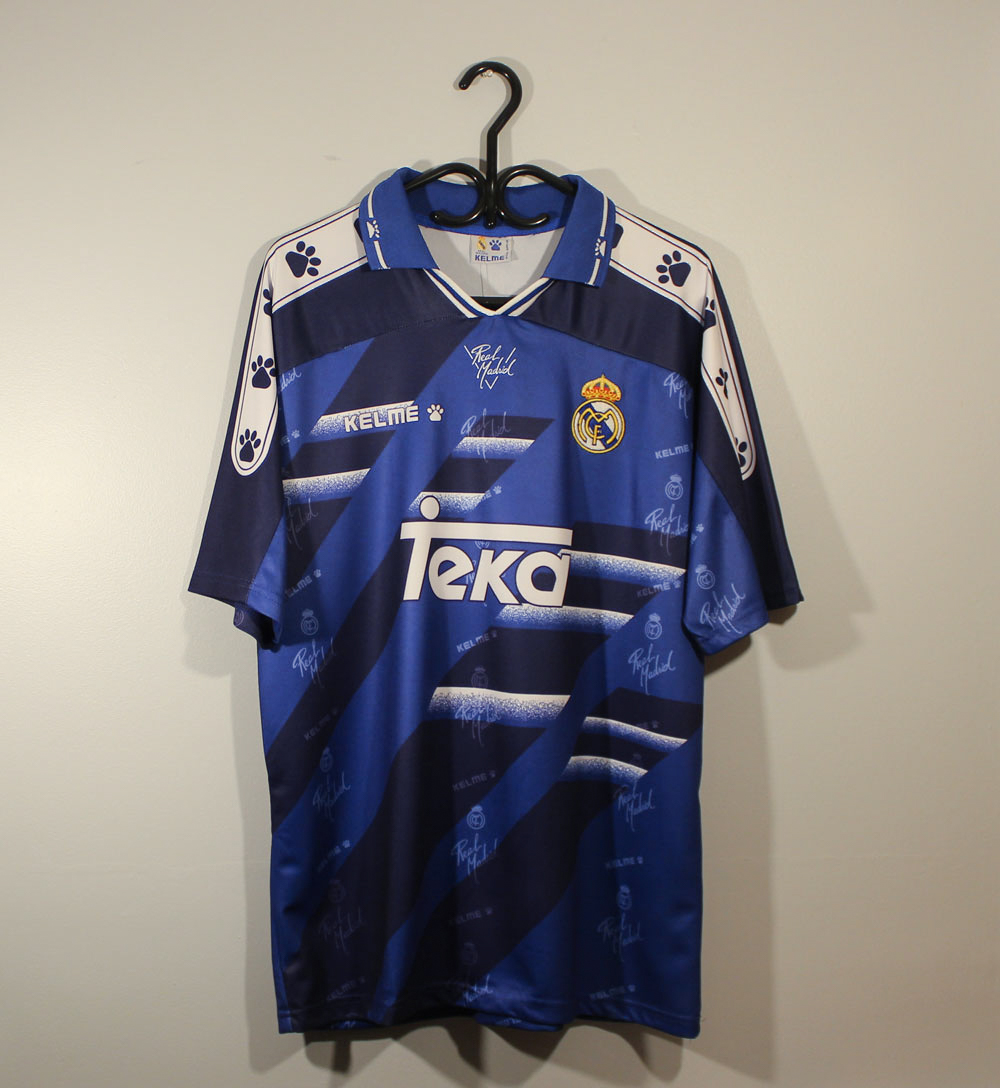 2459040ed Real Madrid 1994-1996 Away Vintage Jersey [Free Shipping]