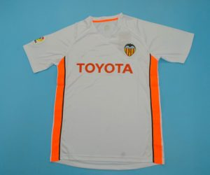 Jersey Front, Valencia 2006-2007 Home Short-Sleeve