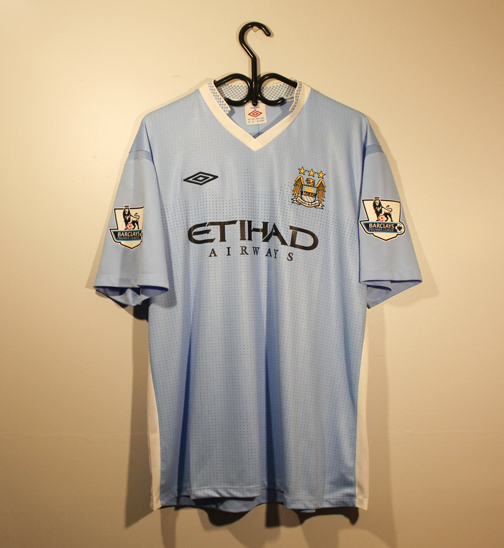 new style b57a4 99b11 Manchester City 2011-2012 Home Short Sleeve