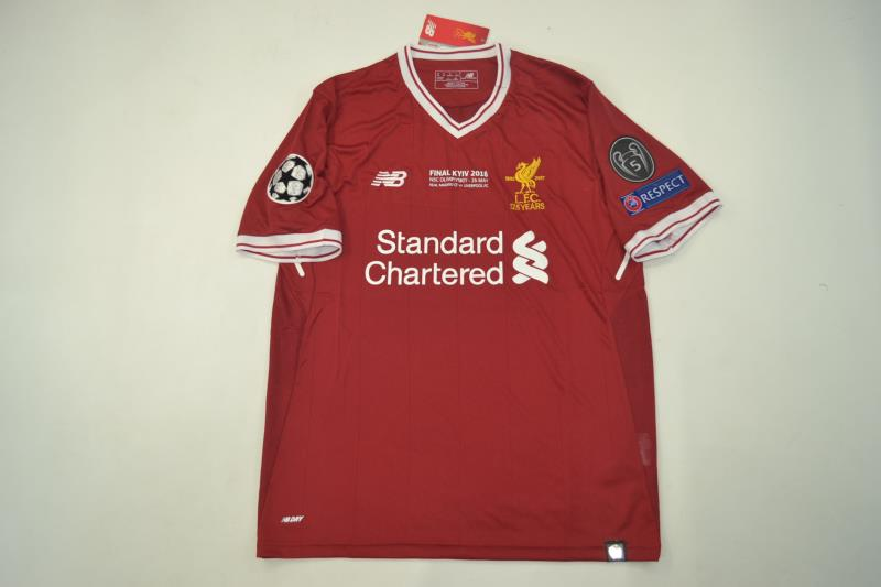 new style b1aeb fac95 Liverpool 2017-2018 Champions League Final Short Sleeve