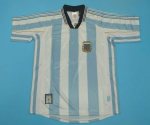 Shirt Front, Argentina 1998 World Cup Home Short-Sleeve