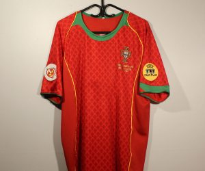 Shirt Front, Portugal Euro 2004 Home Short-Sleeve
