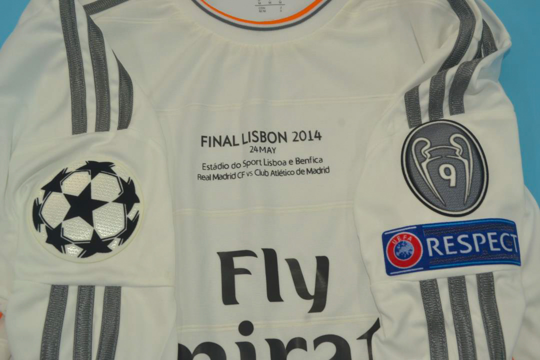 Real Madrid 2013 14 Ucl Final Long Sl Jersey Free Shipping