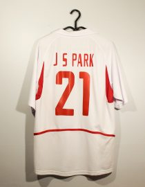 Ji-Sung Park Nameset, South Korea 2002 Away Short-Sleeve
