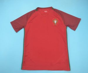 Shirt Front, Portugal Euro 2016 Home Short-Sleeve