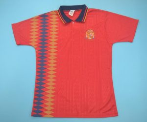 Shirt Front, Spain 1994 Home Short-Sleeve