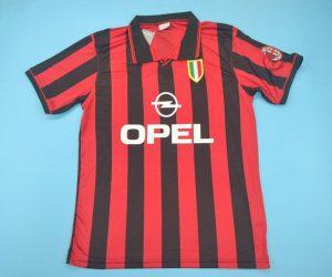 Shirt Front, AC Milan 1996-1997 Home Short-Sleeve Kit