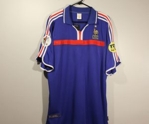 Shirt Front, France Euro 2000 Home Short-Sleeve
