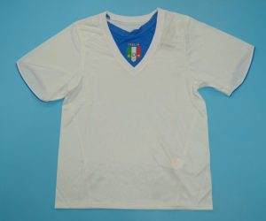 Shirt Front, Italy 2006 Away White Short-Sleeve