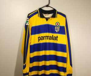 Shirt Front, Parma 1999-2000 Home Long-Sleeve Kit