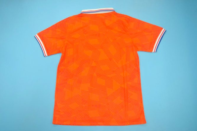 Shirt Back Blank, Netherlands Euro 1992 Home Short-Sleeve