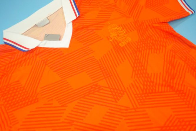 Shirt Front Alternate, Netherlands Euro 1992 Home Short-Sleeve